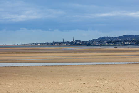 blackrock: Dun Laoghaire and Blackrock area of Dublin as seen from the Sandymount Beach