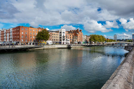liffey: Millennium Bridge is a pedestrian bridge over the river Liffey in Dublin City Centre