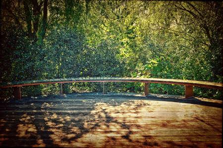 Sunny Wooden Deck Фото со стока