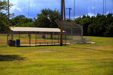 Baseball field background. Stock Photo