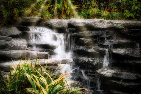 Waterfalls background.