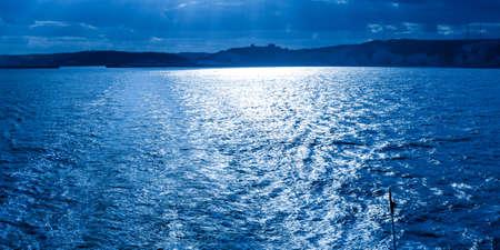 seashores: Night time sea