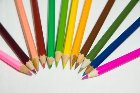 colores: lápices de colores Stock Photo