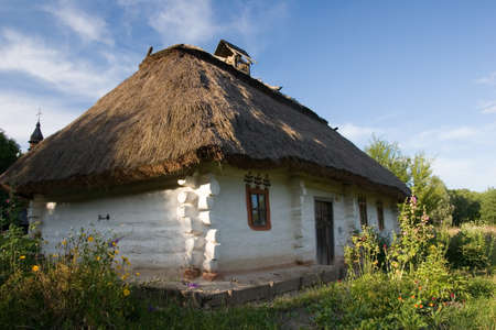 A typical ukrainian antique house, in Pirogovo near Kyiv