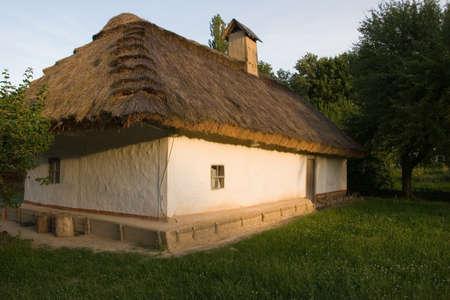 Authentic Ukrainian village house Stock Photo