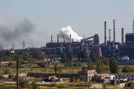 MARIUPOL, UKRAINE - SEPTEMBER 5, 2016: Azovstal Iron and Steel Works Editorial