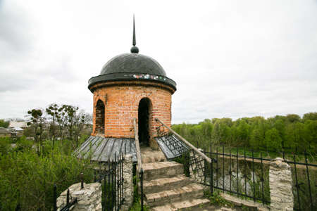 Part of fortification works of castle in Dubno. Rivne region, Ukraine. Banco de Imagens
