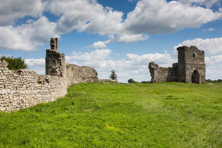 Famous Ukrainian landmark: scenic summer view of the ruins of ancient castle in Kremenets, Ternopil Region, Ukraine Stock Photo