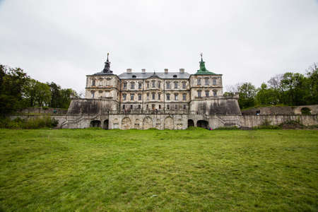Old palace castle in Pidhirci was build in 1635-1640 by Stanislav Koniecpolski , Lviv region, Ukraine Editorial