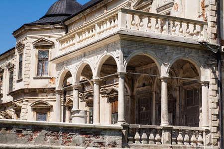 Old palace castle in Pidhirci was build in 1635-1640 by Stanislav Koniecpolski , Lviv region, Ukraine Editorial