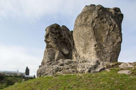 Devils rock in Pidkamin, Lviv region, West Ukraine (summer landscape)