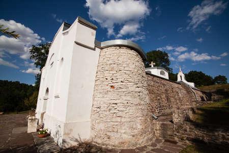 Entrance to monastery on Jazlowiec (Yazlovets), Ternopil region
