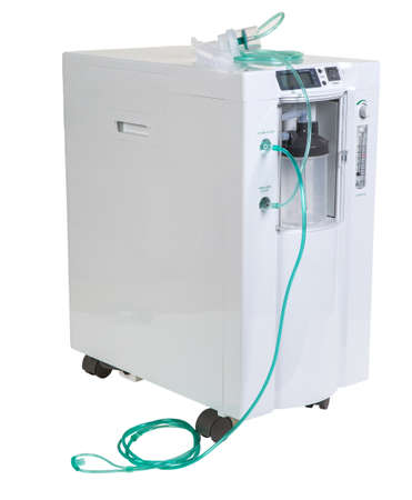Special medical equipment - oxygen concentrator bar isolated on white background