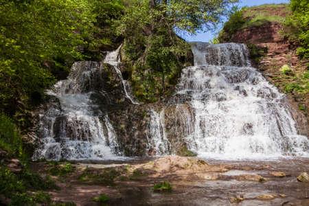 Famous ukranian landscape - waterfall Chervonograd in Ternopil region, Ukraine