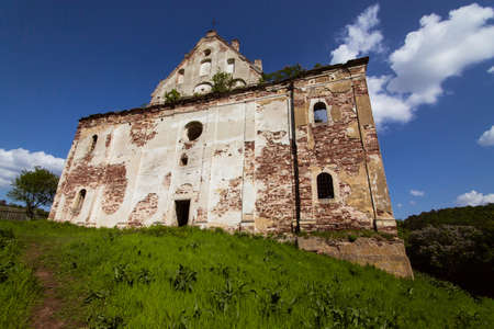 Ruins of Church of the Assumption of the Virgin Mary near the Chervonohrad castle, Ternopil region, Ukraine