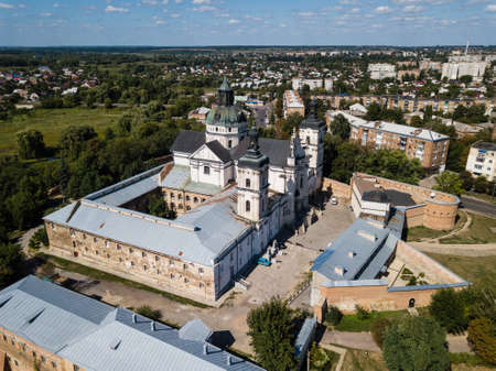 Aerial view to Monastery of Discalced Carmelites with Church of the Immaculate Conception in Berdychiv, Ukraine Stock fotó