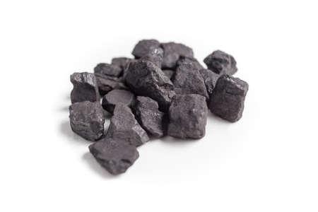 calorific: Coal isolated on white background.
