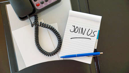 Join us written at the office