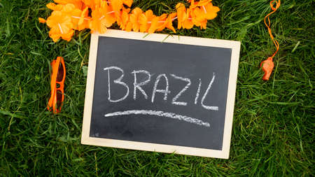 supporters articles of the Dutch football, Brazil written photo