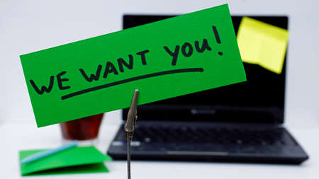 the applicant: We want you written on a memo at the office