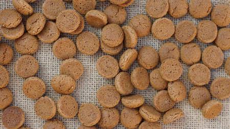 dutch typical: Pile of Pepernoten, typical Dutch treat for Sinterklaas