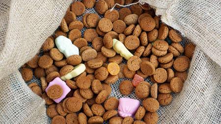 dutch typical: Pile of Pepernoten, typical Dutch treat for Sinterklaas on 5 december