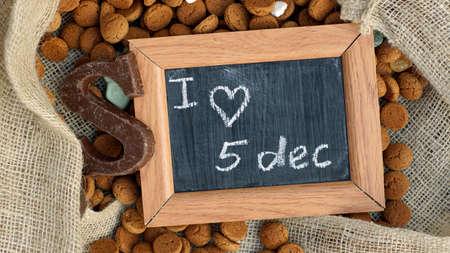 '5 december': Pile of Pepernoten, typical Dutch treat for Sinterklaas on 5 december
