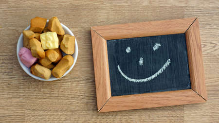 dutch typical: Dutch Pepernoten and a smile, typical Dutch treat for Sinterklaas on 5 december