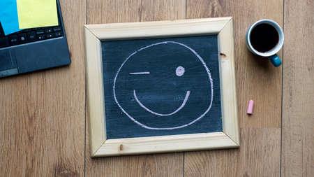 Smile and wink at the office Reklamní fotografie