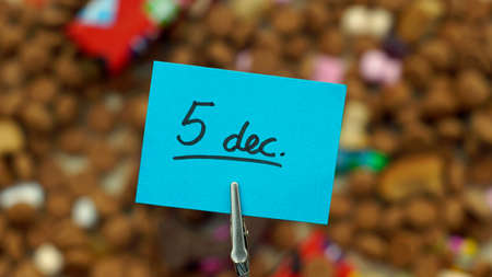festiveness: 5th of December written in Dutch for the Santa-Claus celabration in the Netherlands