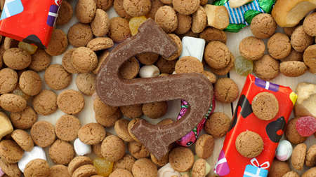 saint nicolaas: Presents between ginger nuts and candys for the Dutch Santa-Claus celebration of the 5th of December