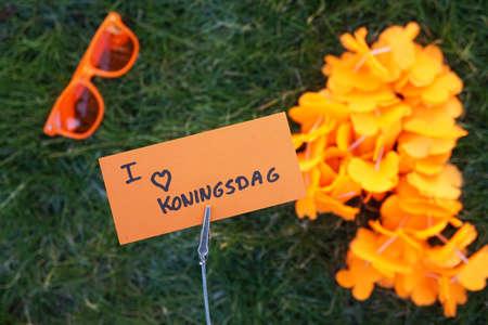 I love kingsday written in Dutch on a memo