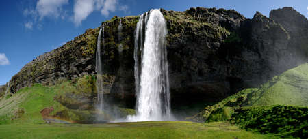 iceland: Waterfall Panorama