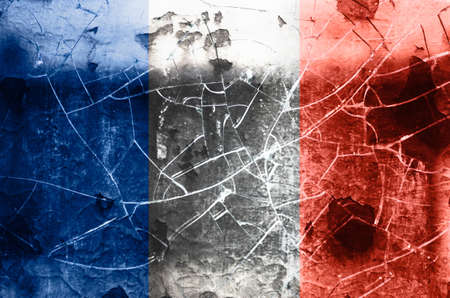 Damaged flag of France