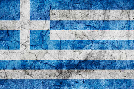 Greece Flag  Grunge  photo