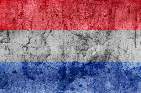 Netherlands Flag  Grunge Stock Photo - 13836194