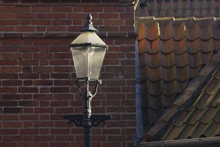 lampe: Vintage Street Lamp in old village