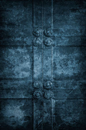 Ancient Church Door with ornamanets  Old Rusted Metal Background  Stock Photo - 16196432