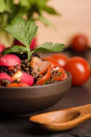 Fresh radish salad with green italian parsley. Vegetarian and Vegan. Stock Photo - 20323085