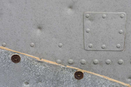 Metallic Texture with rivets Stock Photo