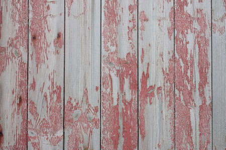 Damaged Red Wood Texture of old scandinavian house Stock Photo