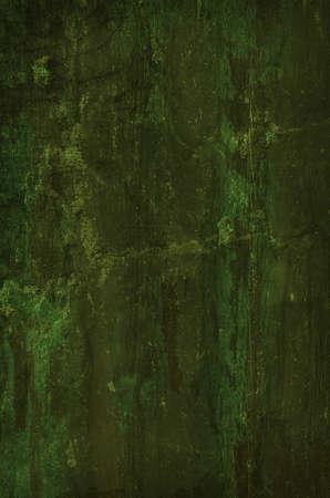 Dark Green Grunge Background.