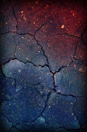 Damaged Grunge Background with red and blue colors Stock Photo