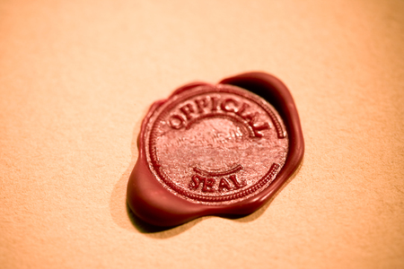 Wax Seal on Antique paper. Reklamní fotografie