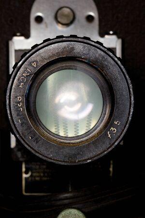 Lens of a retro projector