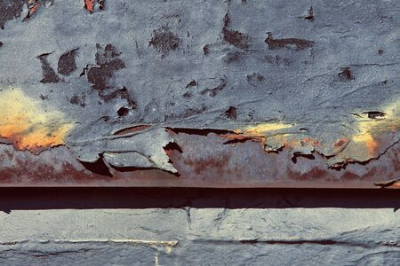 Close up of an old burnt, rusted, surface. 版權商用圖片