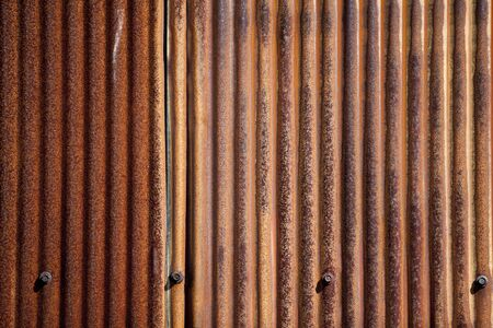 Background of old rusted metal surface with ridges. 版權商用圖片