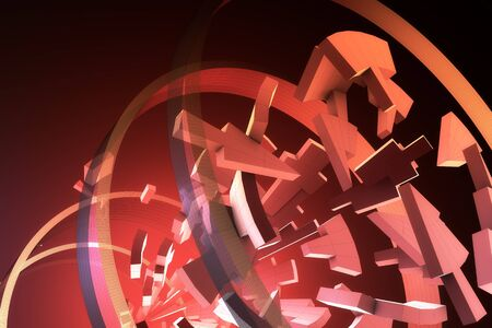 Various 3D shapes. Abstract Background. Stock Photo