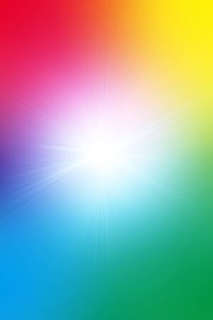 reproduce: Multi-colored background image showing color spectrum with light glowing out of the middle.