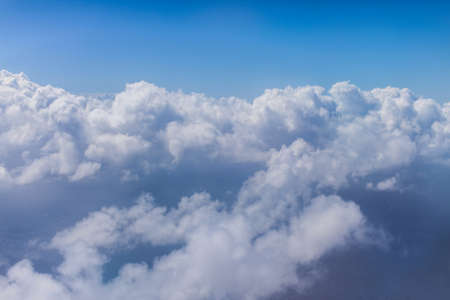 Flying above the clouds Stock Photo